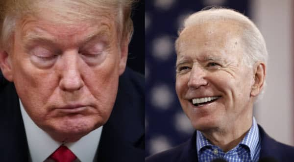 Trump's approval rating, collapsed in COVID-19...We're six percentage points behind Biden