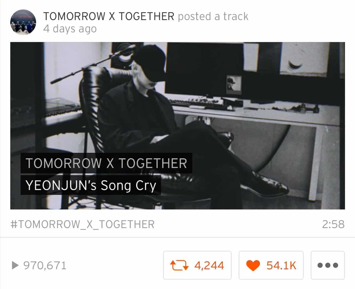 TOMORROW X TOGETHER YEONJUN Unveils 'Song Cry' Cover…a charming tone
