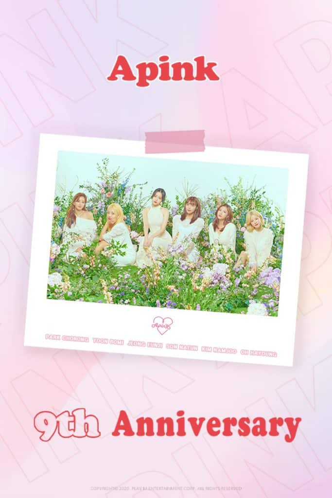 "Apink Celebrates 9th Anniversary of their debut. ""Please celebrate 9th Anniversary with us"""