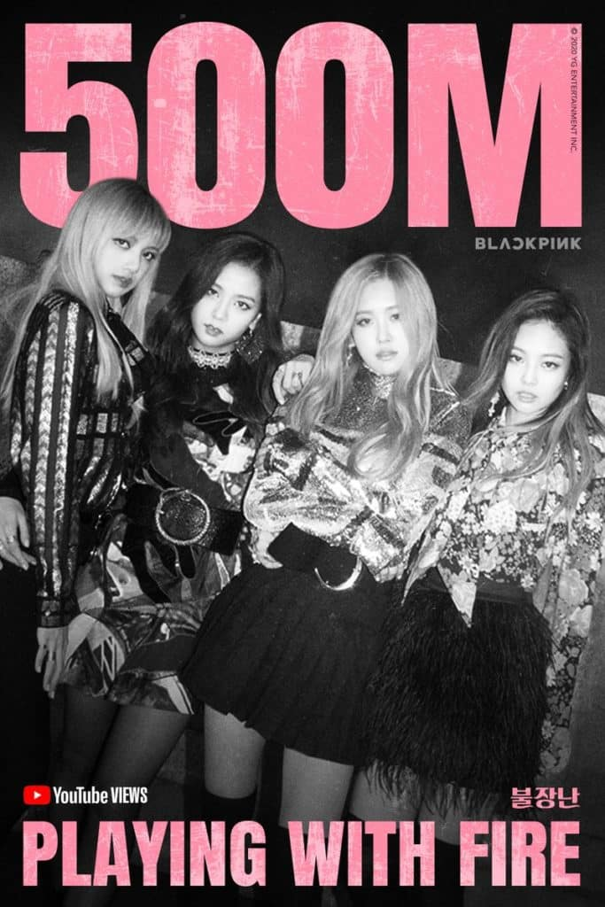 BLACKPINK, 500 million Views of 'Playing with Fire' MV...K-pop Girl Groups Have the Most