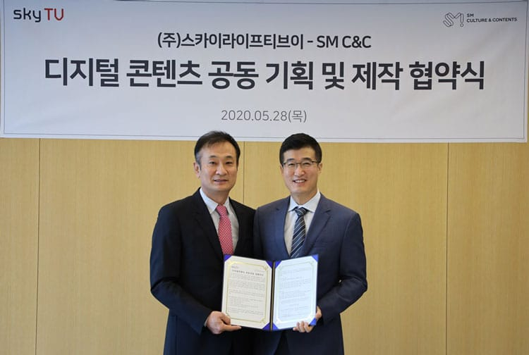 SM C & C Signs Digital Content Business Agreement with skyTV