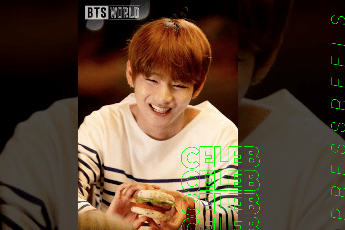 BTS V smiles like a younger brother