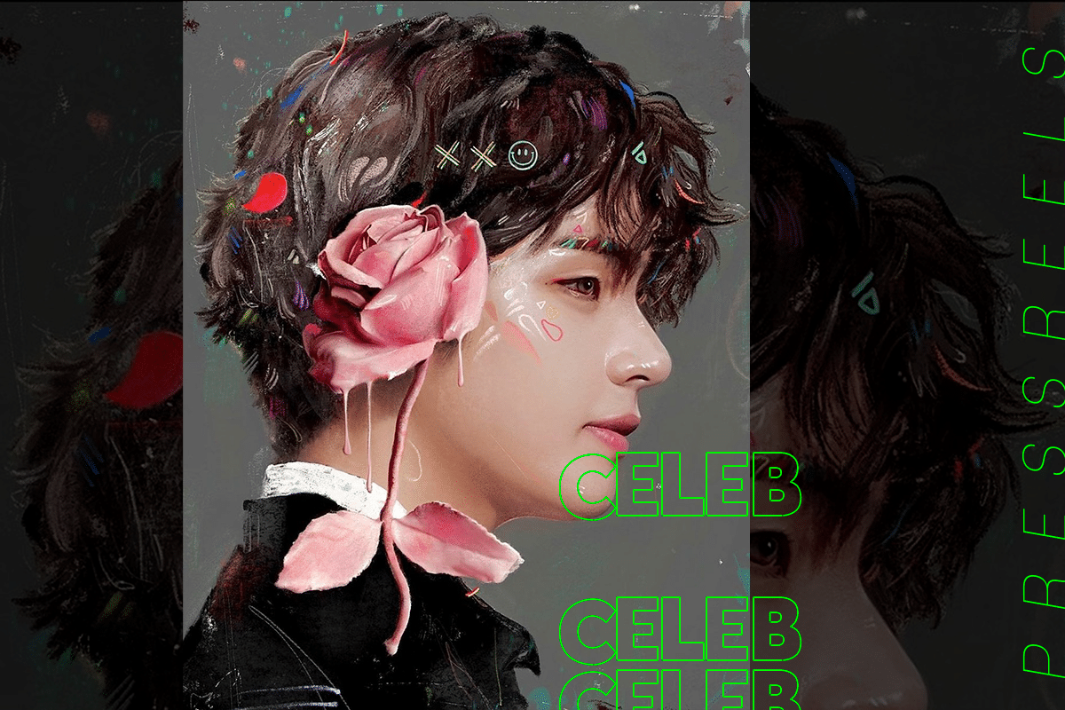 """""""BTS V Beautiful Than Flowers"""" by the Artist"""