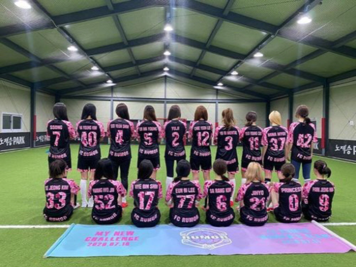 Women Celebrity Soccer Team are actively explained in relation to the controversy - APINK, TWICE, GUGUDAN