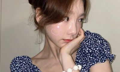 """SNSD Taeyeon, uploads photos to Instagram on July 17th,""""CHECKS-The Taset of Welsh Onion"""" challenge"""""""