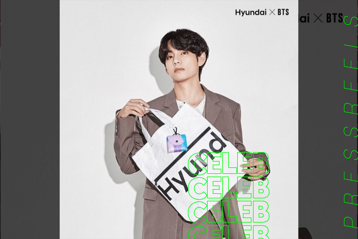BTS V Reveals Photobooks in Hyundai Lifestyle
