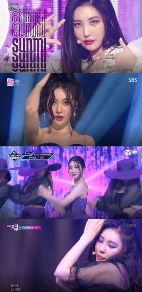 Sunmi, End of 'Pporappippam' Music Broadcast Activity