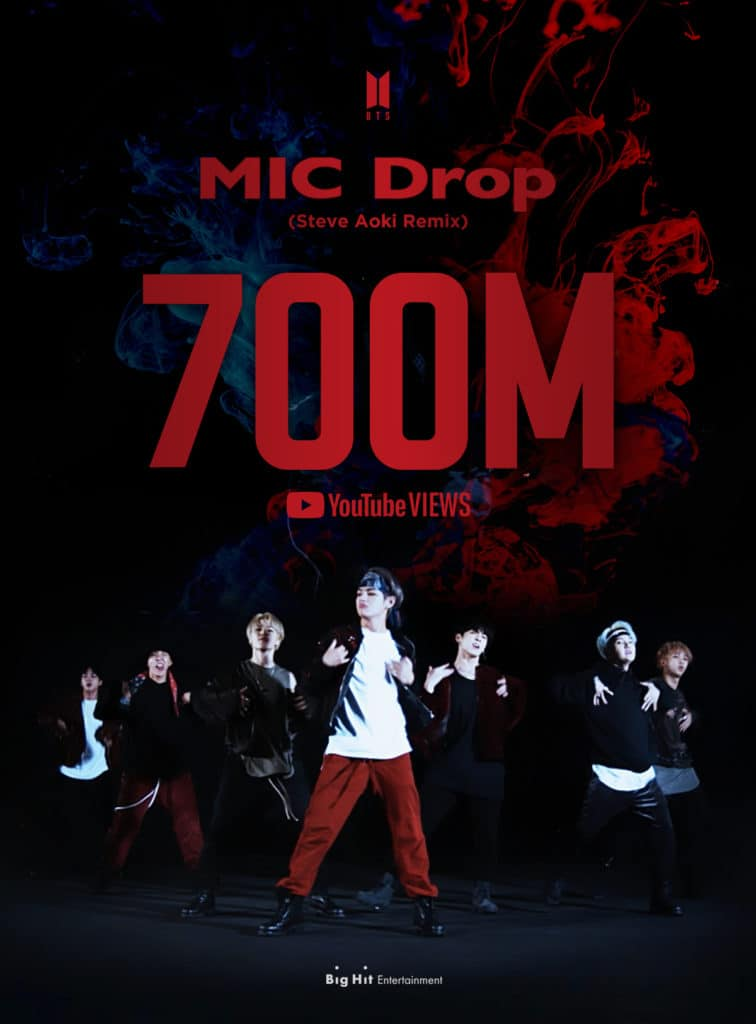 (PRESSREELS) The group BTS set another new record with the music video for the 'MIC Drop' remix.