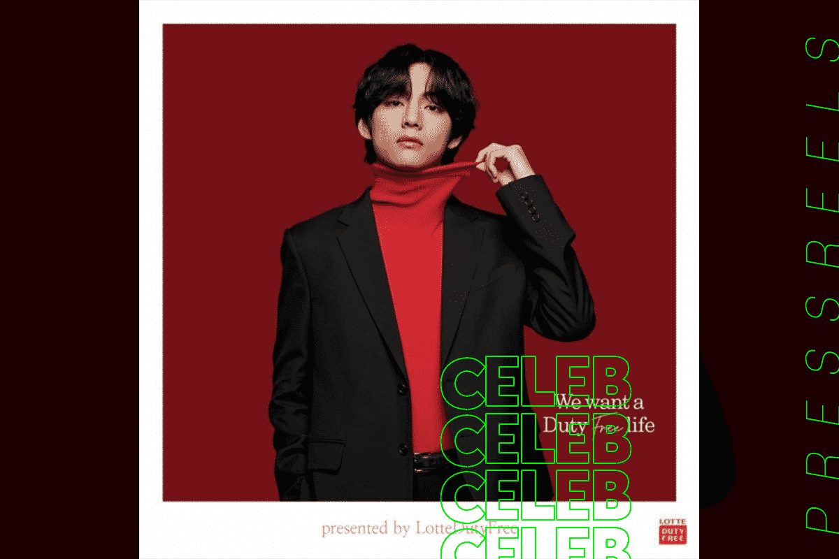 BTS V, Luxury Visuals Complete with Seductive Red