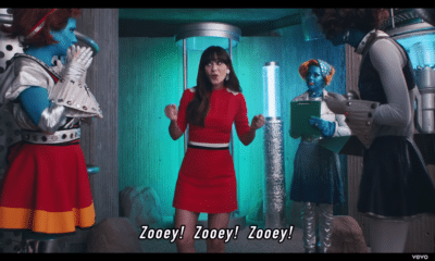 Zooey Deschanel stars in Katy Perry's new music video.